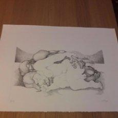 Arte: RICARDO CARPANI - GRABADO SERIE AMANTES NUMERADO Y FIRMADO. Lote 101183283