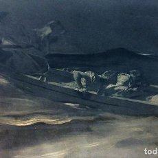 Arte: JESÚS DURMIENDO EN LA TORMENTA. GRABADO. FIRMA AUTÓGRAFA BENJAMIN CONSTANT. PARIS 1899. Lote 101280231