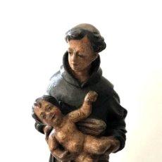 Arte: TALLA EN MADERA DE SAN ANTONIO DE PADUA - S. XVIII. Lote 101291175