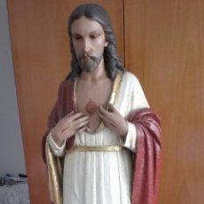 Arte: ESCULTURA SAGRADO CORAZÓN DE JESÚS - GRAN TAMAÑO -. Lote 101383359