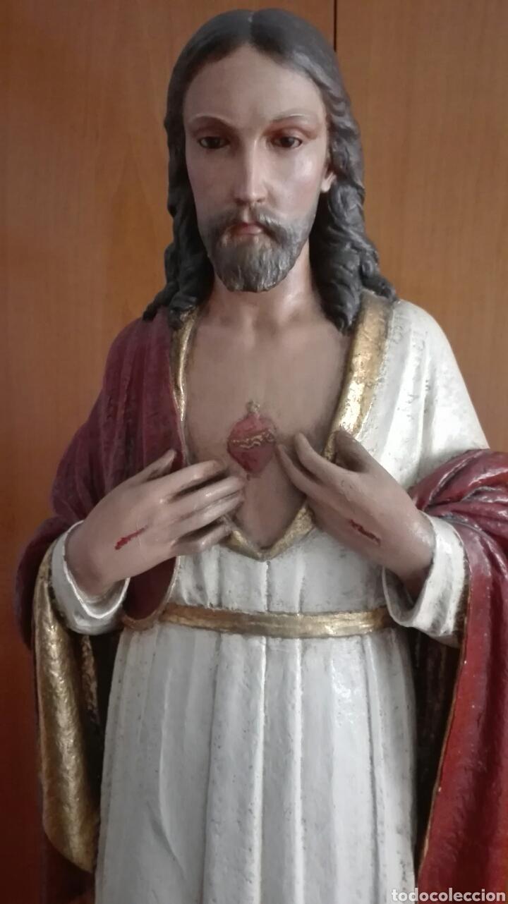 Arte: Escultura Sagrado Corazón de Jesús - Gran Tamaño - - Foto 4 - 101383359