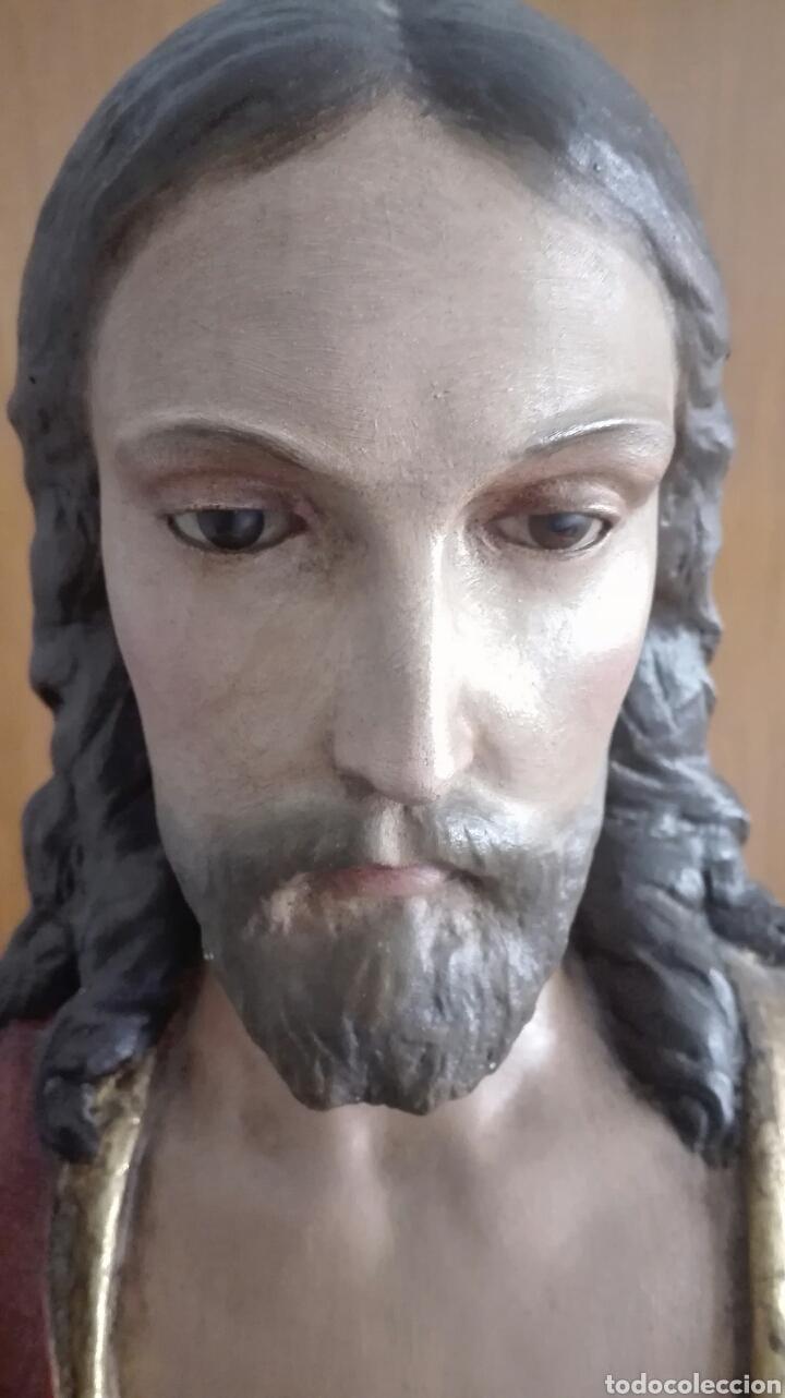 Arte: Escultura Sagrado Corazón de Jesús - Gran Tamaño - - Foto 6 - 101383359
