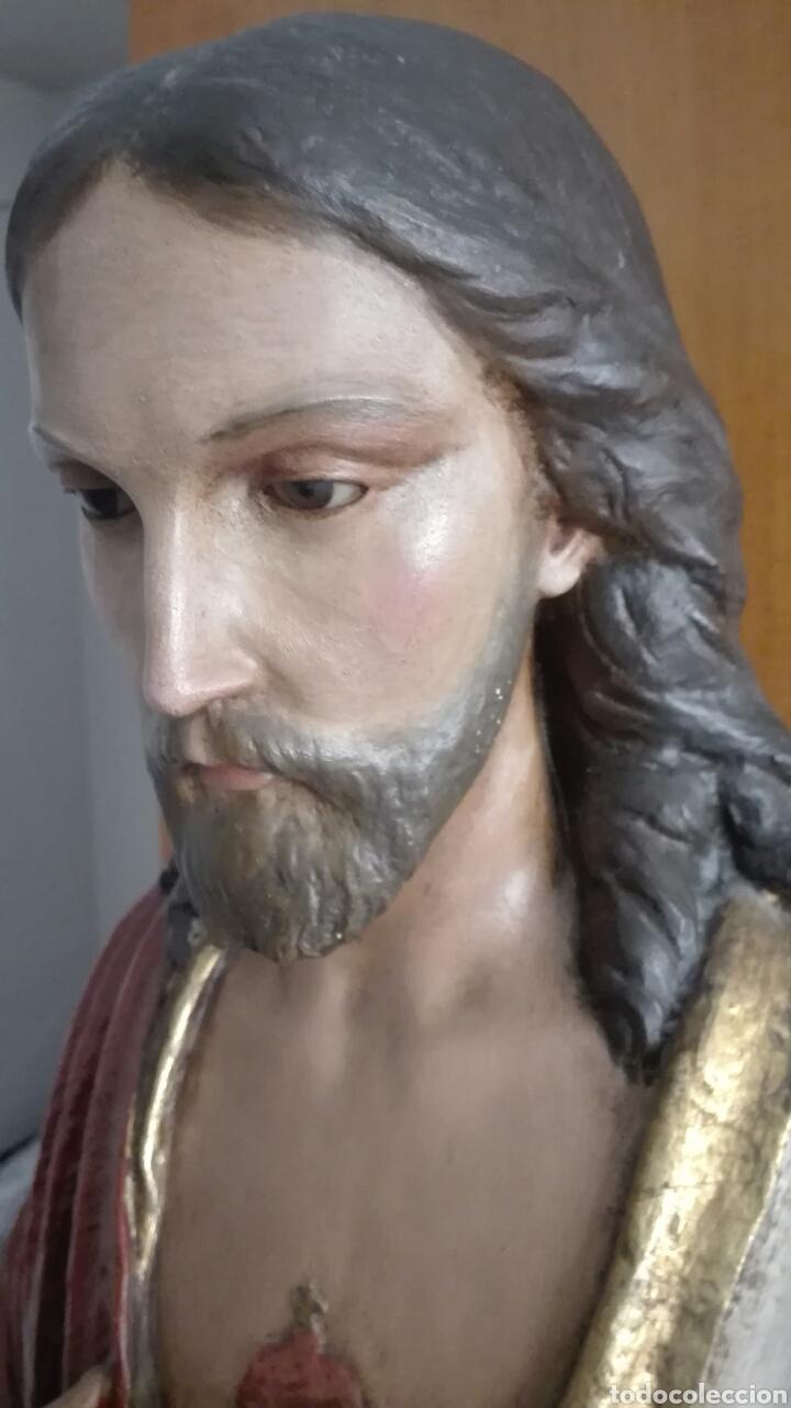 Arte: Escultura Sagrado Corazón de Jesús - Gran Tamaño - - Foto 9 - 101383359