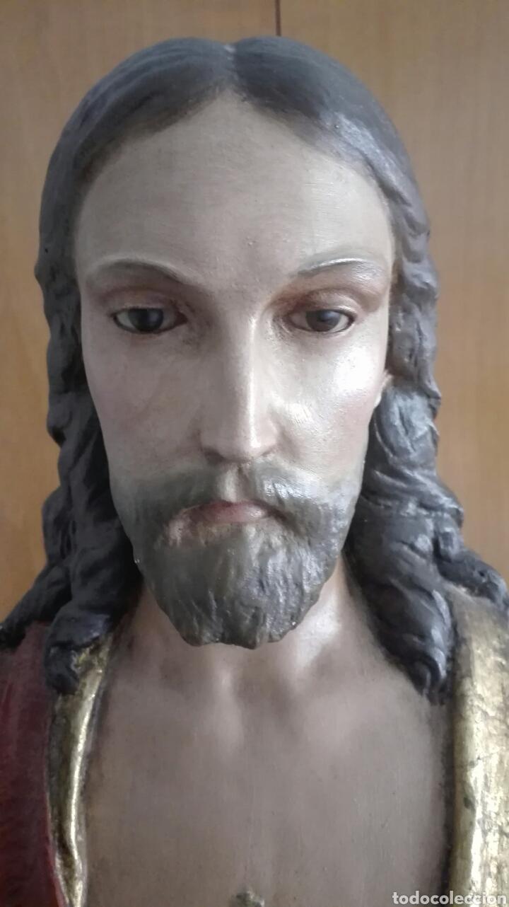 Arte: Escultura Sagrado Corazón de Jesús - Gran Tamaño - - Foto 10 - 101383359