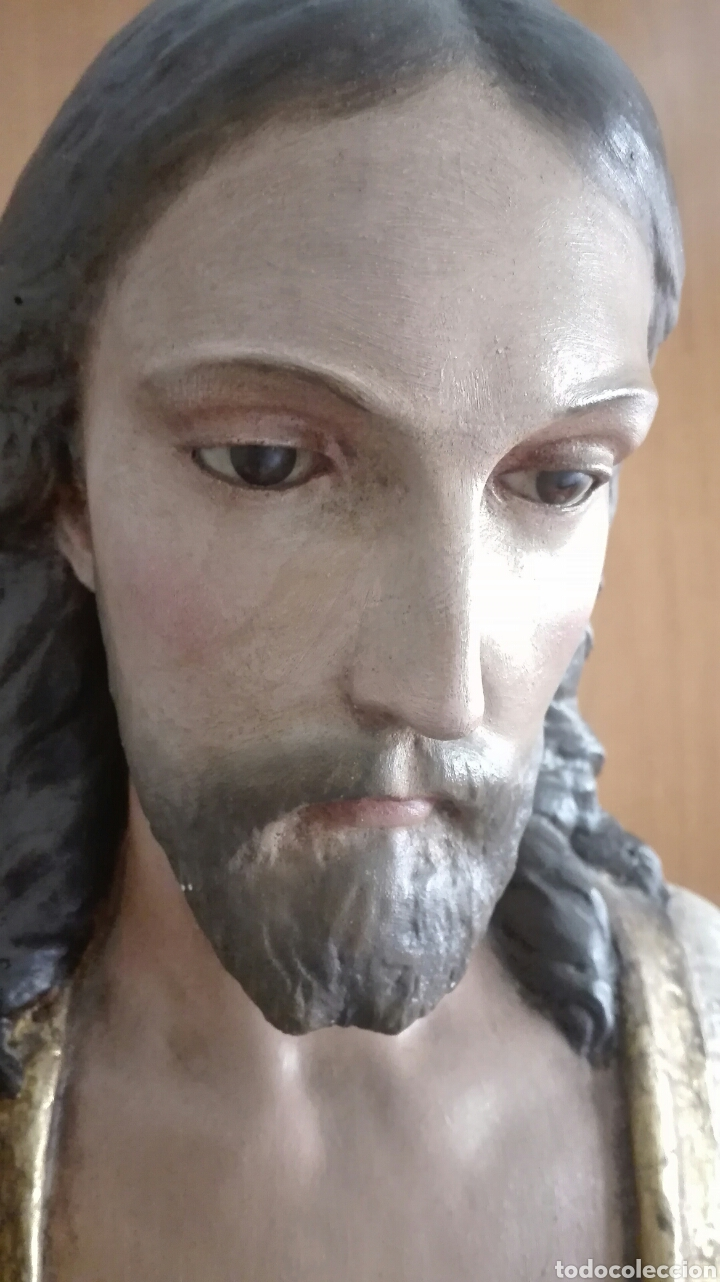 Arte: Escultura Sagrado Corazón de Jesús - Gran Tamaño - - Foto 11 - 101383359