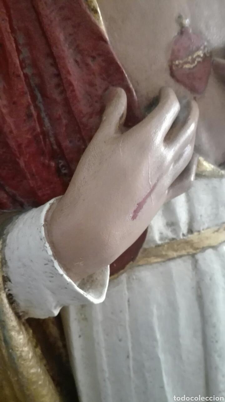 Arte: Escultura Sagrado Corazón de Jesús - Gran Tamaño - - Foto 14 - 101383359
