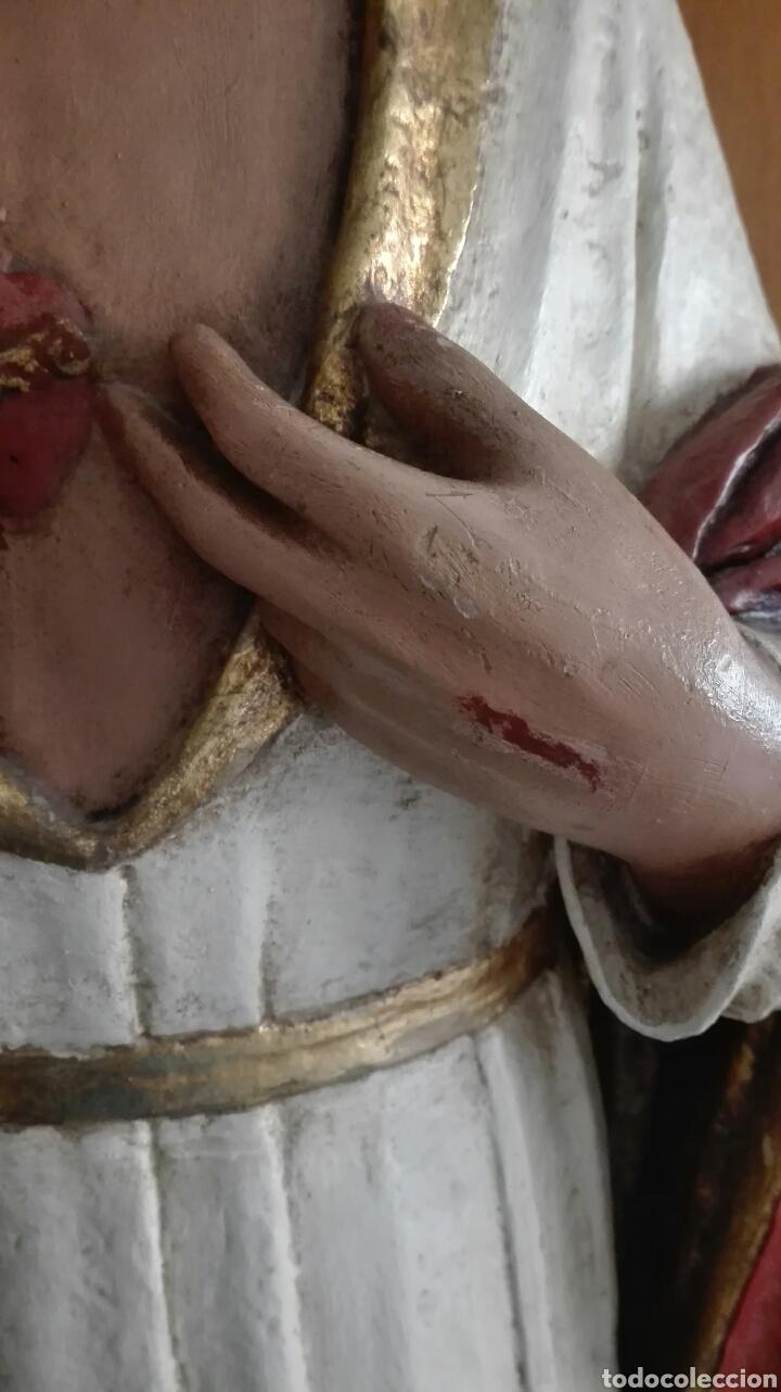 Arte: Escultura Sagrado Corazón de Jesús - Gran Tamaño - - Foto 15 - 101383359