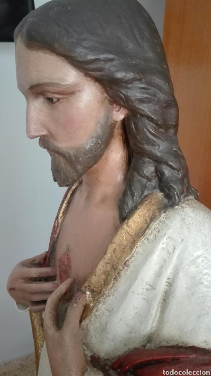 Arte: Escultura Sagrado Corazón de Jesús - Gran Tamaño - - Foto 18 - 101383359