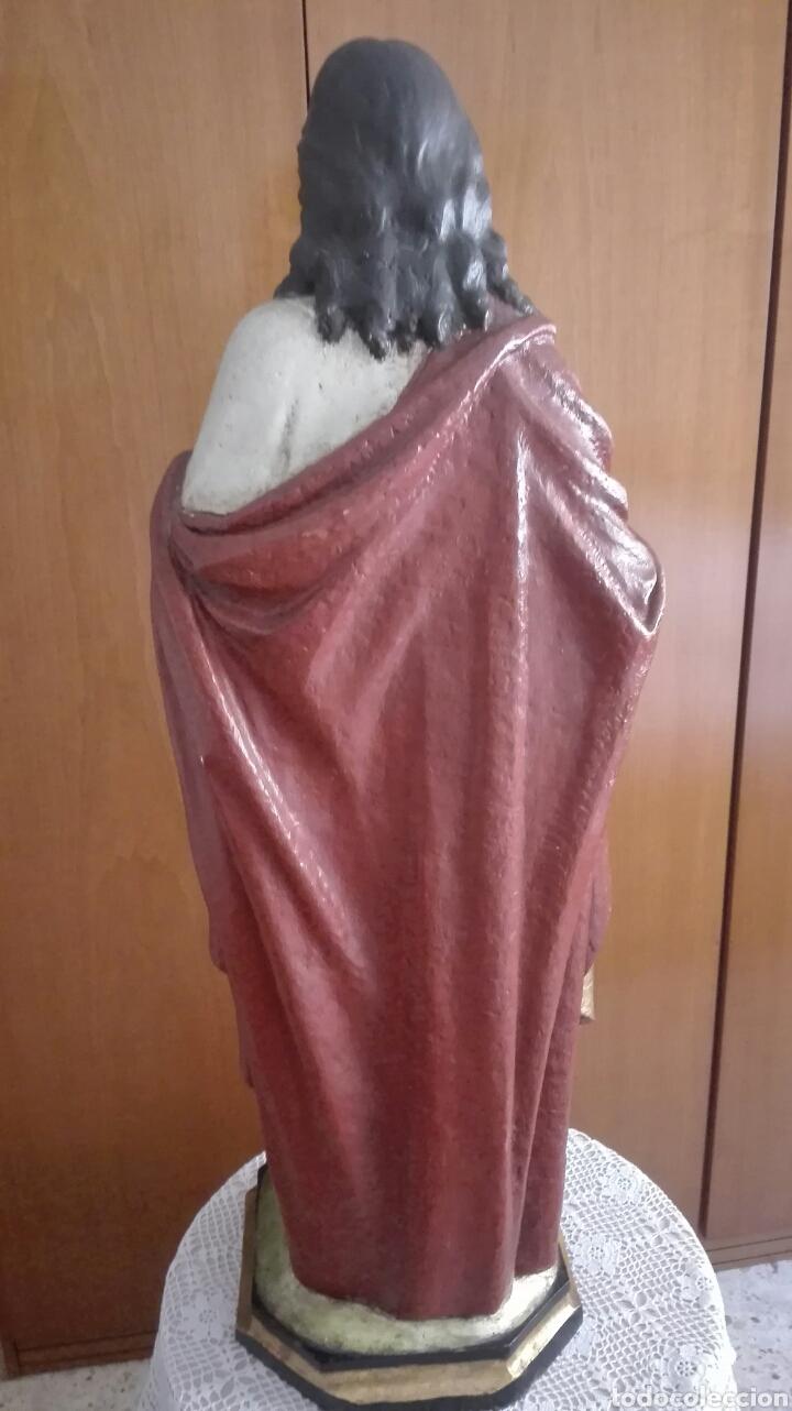 Arte: Escultura Sagrado Corazón de Jesús - Gran Tamaño - - Foto 19 - 101383359