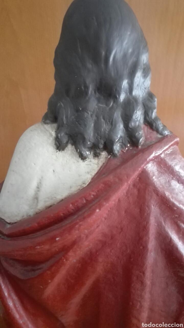 Arte: Escultura Sagrado Corazón de Jesús - Gran Tamaño - - Foto 20 - 101383359