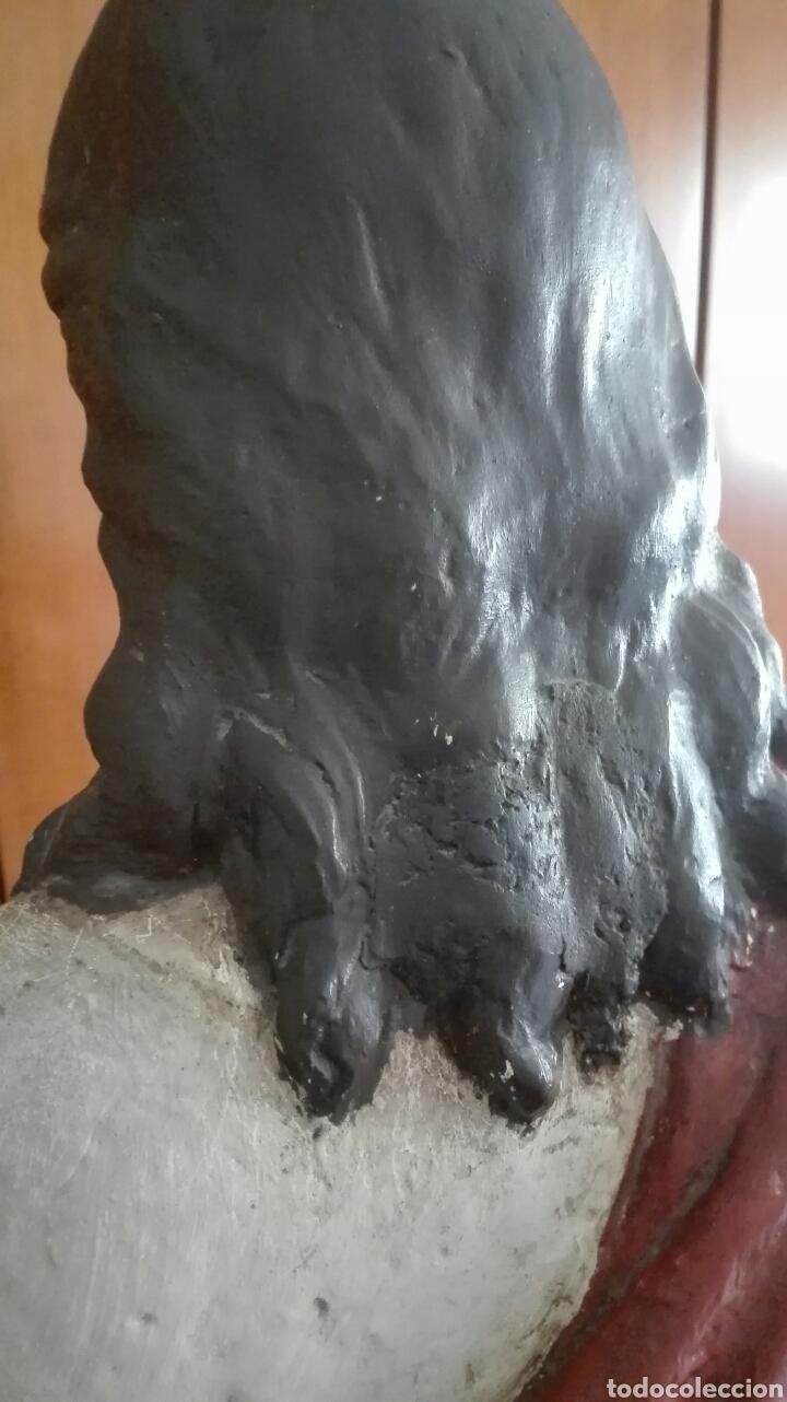Arte: Escultura Sagrado Corazón de Jesús - Gran Tamaño - - Foto 21 - 101383359