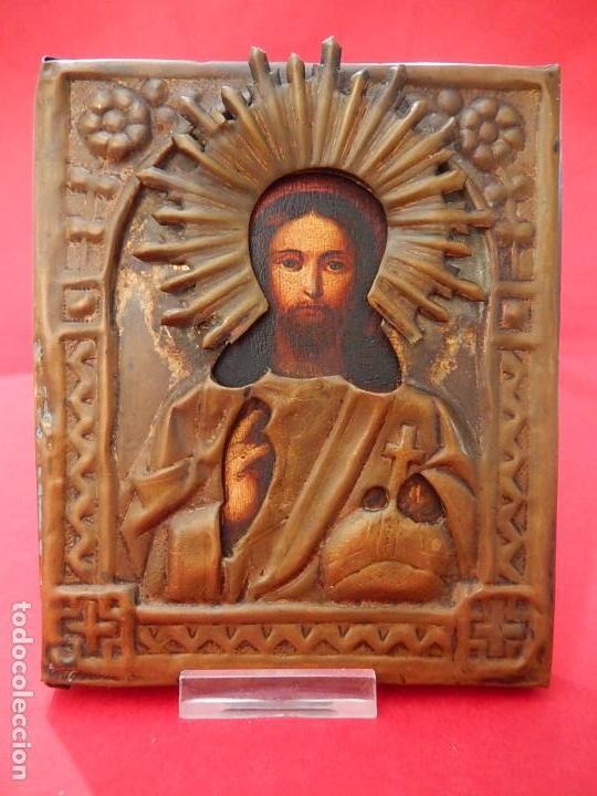 PEQUEÑO ICONO RUSO. SIGLO XIX. (Arte - Arte Religioso - Iconos)