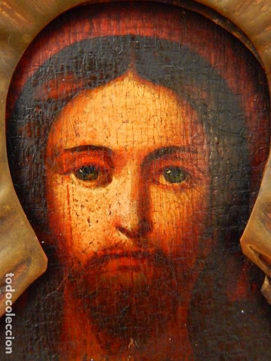 Arte: Pequeño icono ruso. Siglo XIX. - Foto 3 - 101393075