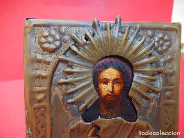 Arte: Pequeño icono ruso. Siglo XIX. - Foto 7 - 101393075