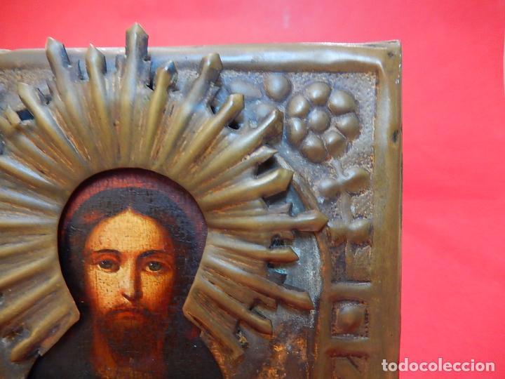 Arte: Pequeño icono ruso. Siglo XIX. - Foto 8 - 101393075