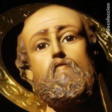 Arte: SAN BARTOLOME APOSTOL PASTA DE MADERA DE OLOT GRANDES MEDIDAS. Lote 101431235