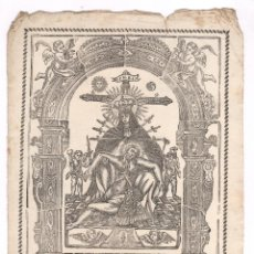 Arte: GRABADO RETRATO DE LA MILAGROSA DE NUESTRA SEÑORA, FINALES DEL S. XVIII. 21,5X31CM. Lote 101432119