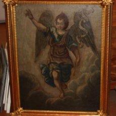 Arte: ESCUELA ESPAÑOLA DE FINALES DEL SIGLO XVIII. OLEO SOBRE TELA. ARCANGEL SAN GABRIEL. Lote 101537191