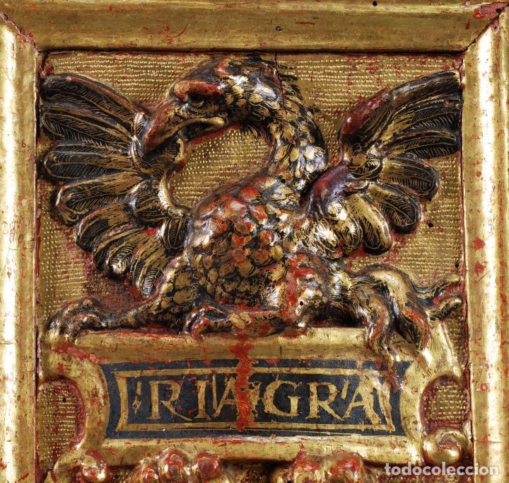 Arte: Relieve predela madera tallada estucada y dorada escuela española siglo XVI - Foto 2 - 101544727
