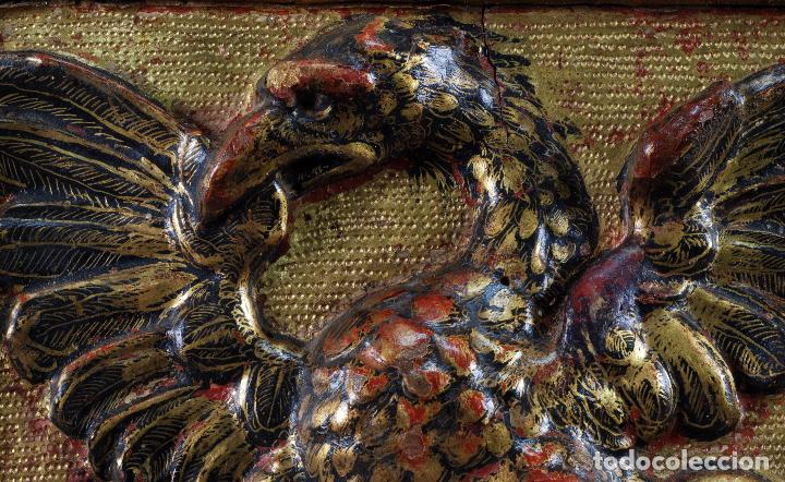Arte: Relieve predela madera tallada estucada y dorada escuela española siglo XVI - Foto 4 - 101544727