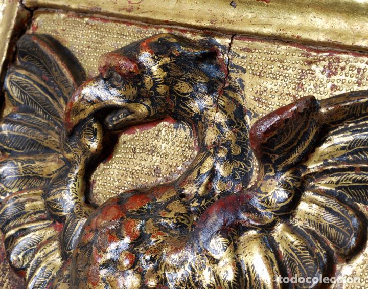 Arte: Relieve predela madera tallada estucada y dorada escuela española siglo XVI - Foto 5 - 101544727