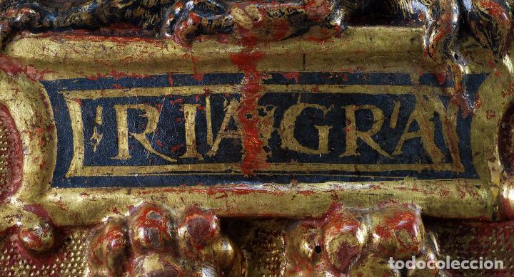 Arte: Relieve predela madera tallada estucada y dorada escuela española siglo XVI - Foto 6 - 101544727