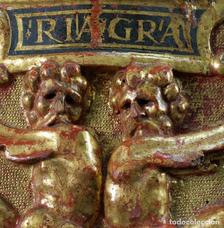 Arte: Relieve predela madera tallada estucada y dorada escuela española siglo XVI - Foto 7 - 101544727