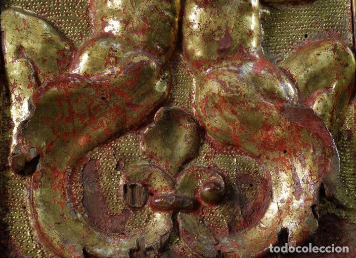 Arte: Relieve predela madera tallada estucada y dorada escuela española siglo XVI - Foto 8 - 101544727