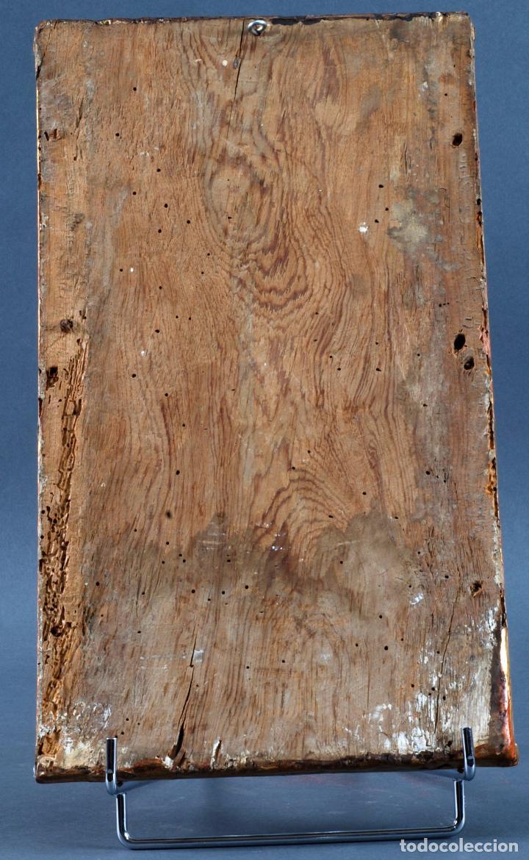 Arte: Relieve predela madera tallada estucada y dorada escuela española siglo XVI - Foto 9 - 101544727