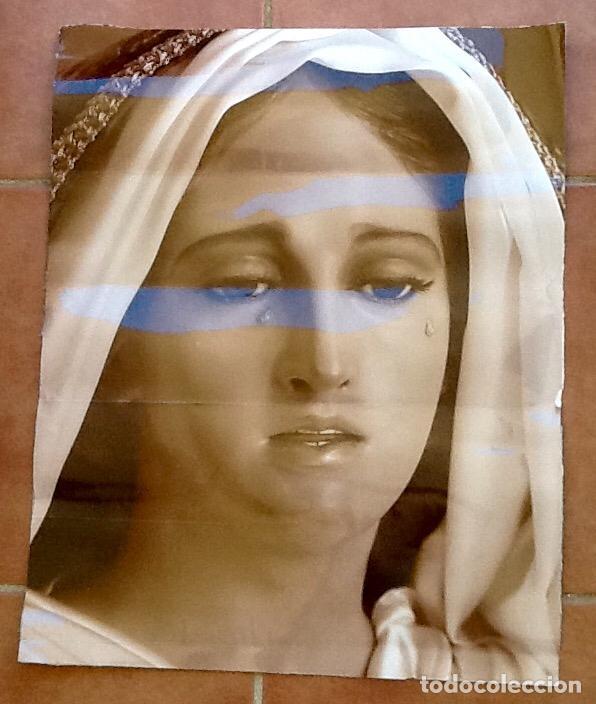 LAMINA GRANDE.VIRGEN LLORANDO. . ENVIO INCLUIDO. (Arte - Arte Religioso - Litografías)