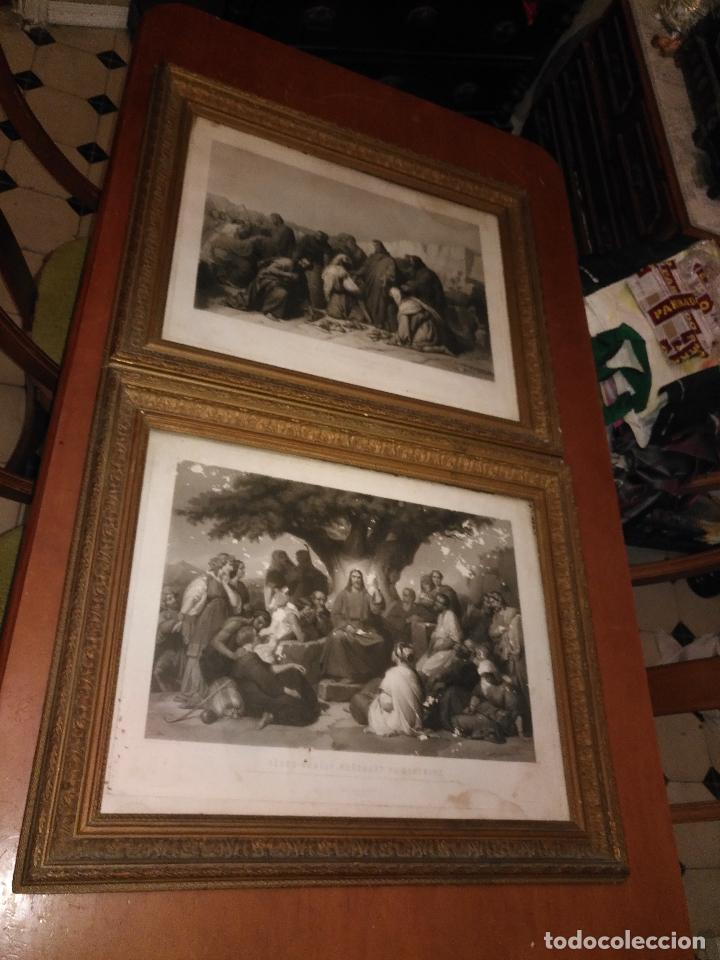 gran tamaño grabados religiosos marco madera y - Comprar Grabados ...