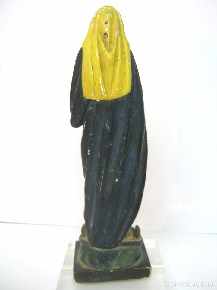 Arte: Antigua talla de madera - Virgen s.XIX - Foto 3 - 101847623