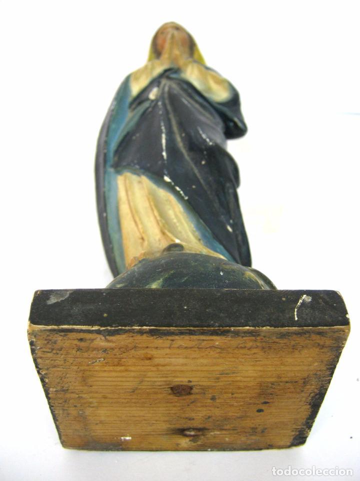 Arte: Antigua talla de madera - Virgen s.XIX - Foto 6 - 101847623