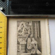Arte: ANTIGUO GRABADO RELIGIOSO RECORTADO 1882 - GRABADOR ABADAL - ESCENA CEREMONIA PARTE DE LA MISA. Lote 101883727