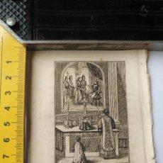 Arte: ANTIGUO GRABADO RELIGIOSO RECORTADO 1882 - GRABADOR ABADAL - ESCENA CEREMONIA PARTE DE LA MISA. Lote 101884251