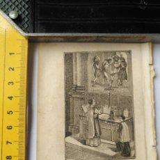 Arte: ANTIGUO GRABADO RELIGIOSO RECORTADO 1882 - GRABADOR ABADAL - ESCENA CEREMONIA PARTE DE LA MISA. Lote 101884695