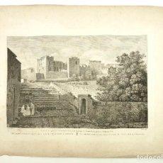 Arte: TARRAGONA, PALACIO DE AUGUSTO. GRABADO PRINCIPIOS S.XIX. 41X55 CM. LIGIER - TEJADA SCULP.. Lote 101901415