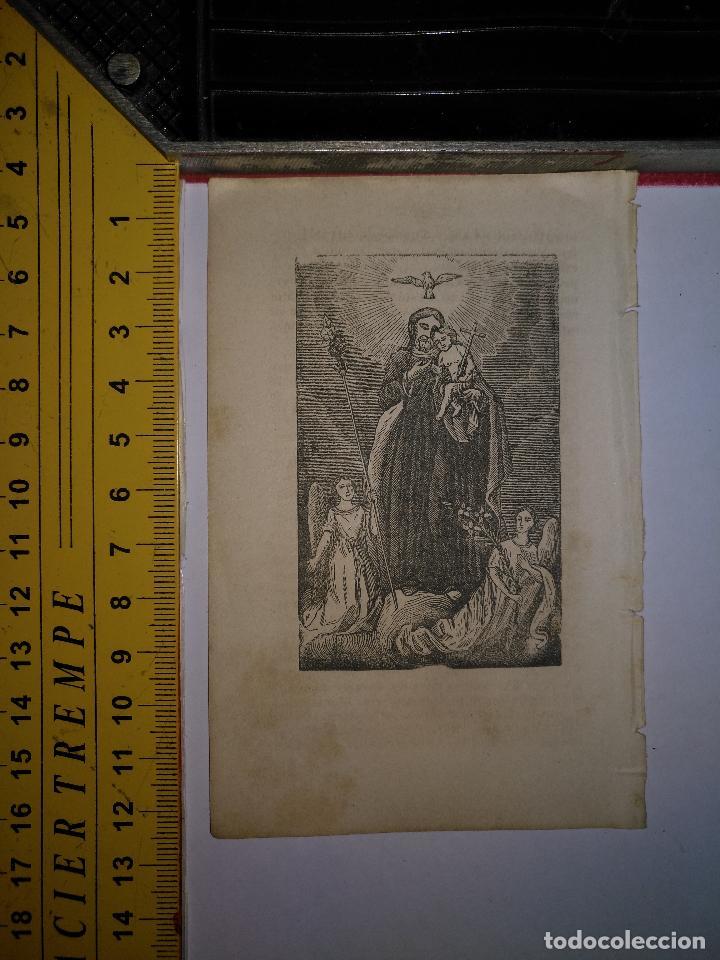 ANTIGUO GRABADO RELIGIOSO 1882 - GRABADOR ABADAL - SAN JOSE CON NIÑO JESUS (Arte - Arte Religioso - Grabados)