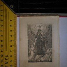 Arte: ANTIGUO GRABADO RELIGIOSO 1882 - GRABADOR ABADAL - SAN JOSE CON NIÑO JESUS. Lote 101921435