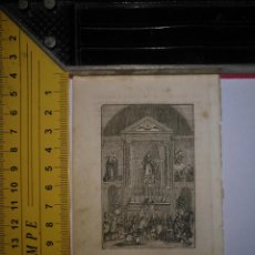 Arte: ANTIGUO GRABADO RELIGIOSO 1882 - GRABADOR ABADAL - SANTA MISA CON VIRGEN MILAGROSA ????. Lote 101921655