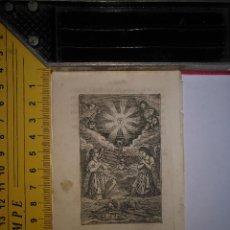 Arte: ANTIGUO GRABADO RELIGIOSO 1882 - GRABADOR ABADAL - LA SAGRADA EUCARISTIA Y ANGELES. Lote 101921739