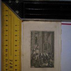 Arte: ANTIGUO GRABADO RELIGIOSO 1882 - GRABADOR ABADAL - LA SAGRADA SANTA MISA. Lote 101921795