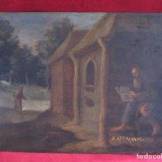 Arte: SANTO ERMITAÑO. SAN ABRAHAM, OLEO SOBRE COBRE DEL S. XVII. ESCUELA FLAMENCA. Lote 102029275