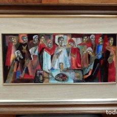 Arte: MONTSERRAT MAINAR BENEDICTO (BARCELONA, 1928 - 2015) ESMALTE AL FUEGO REPRESENTANDO LA SANTA CENA. Lote 102192571