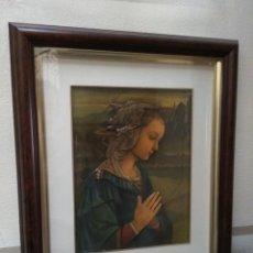 Arte: CUADRO ENMARCADO CON ICONO DE LA VIRGEN/LA MADONNA EN RELIEVE 3D/TRIDIMENSIONAL. Lote 102347855