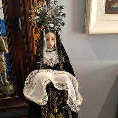 Arte: DOLOROSA CAP Y POTA DEL XIX EN TALLA DE MADERA. Lote 149885029