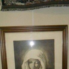 Arte: GRABADO DE JOSÉ RIDAURA 1954. VIRGEN REZANDO.. Lote 102704983
