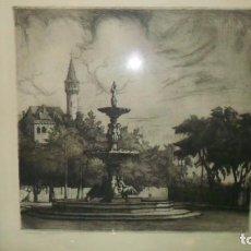 Arte: GRABADO DE ANTIGUA VISTA DE VALENCIA, AUTOR MONTESA AÑOS CINCUENTA. Lote 102706351