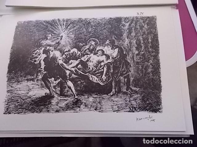 Arte: PACO HERNANDEZ VIA CRUCIS / PARROQUIA DE TRAPICHE / VELEZ MALAGA 1945 - Foto 3 - 102734003