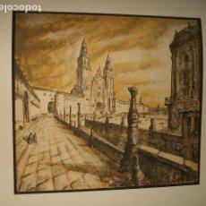 Arte: SANTIAGO DE COMPOSTELA CATEDRAL LITOGRAFIA 1932 SERGE ROVINSKY . Lote 102778735